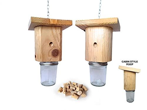 Mac's Cabin Style Carpenter Bee Trap - Set of 2