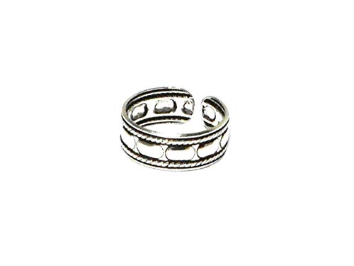 ADJUSTABLE 925 Sterling Silver TOE Ring - Gift Boxed