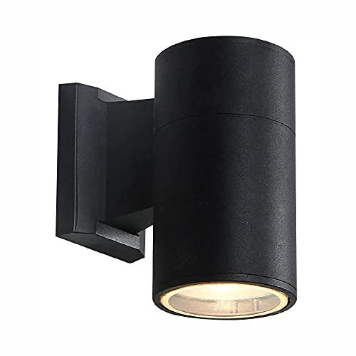 Aplique de pared, lámpara de pared simple para exteriores, impermeable, metal, balcón, pasillo, apliques de pared, pasillo, balcón, exterior, patio, accesorios de iluminación de pared, sin bombilla