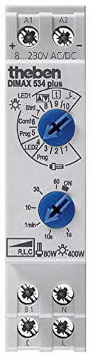 Theben 5340001 DIMAX 534 Plus Universaldimmer mit Einstellbarer Dimmgeschwindigkeit, Dimmer, Dimmschalter