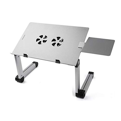 Laptop Table Stand met verstelbare Folding Ergonomisch ontwerp Stand Notebook Bureau for Tablet Met Mouse Pad klaptafel (Color : Chrome)