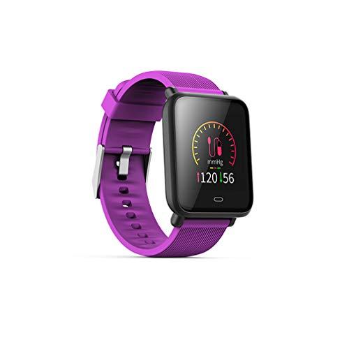 HOMECCLL Sport Smart Armband Farbe Bildschirm Herzfrequenz Blut Smart Armband Druck Wasserdicht Fitness Tracker Band,Purple