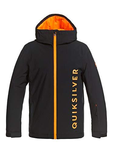 Quiksilver Jungen Schneejacke Morton - Schneejacke für Jungen 8-16, True Black, M/12, EQBTJ03127