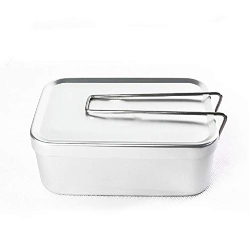 Lunch Box Simple Aluminium Militair Personeel Camping Outdoor Voedsel Container, Portable, Durable