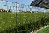 Bedruckter Sichtschutzstreifen für Doppelstabmatten Zaun auf Rolle inkl. 25 Klemmschienen (Ameland)