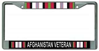 Afghanistan Veteran Chrome License Plate Frame