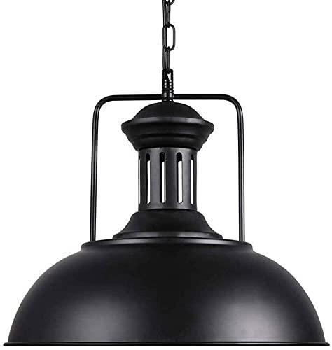 Popertr Pantalla de hierro forjado de metal para restaurante nórdico retro estilo industrial araña colgante colgante granero granja decorativo iluminación accesorio e27 lámpara porta cabeza ajustable