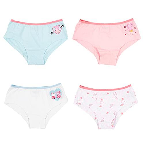 Peppa Wutz Mädchen Panty 4 Paar, Kinder Unterhose Unterwäsche 4er Pack (Numeric_98)