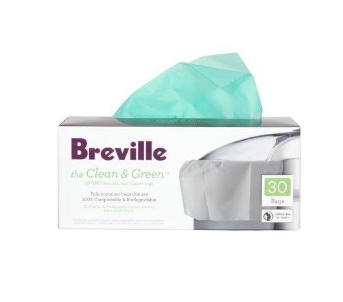 Breville BJE030 - Bolsa para exprimidores de pulpa biodegradable, limpia y verde