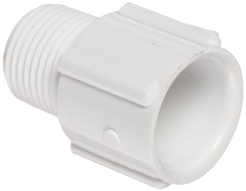 Spears 436 Series PVC Pipe Fitting, Adapter, Schedule 40, White, 8
