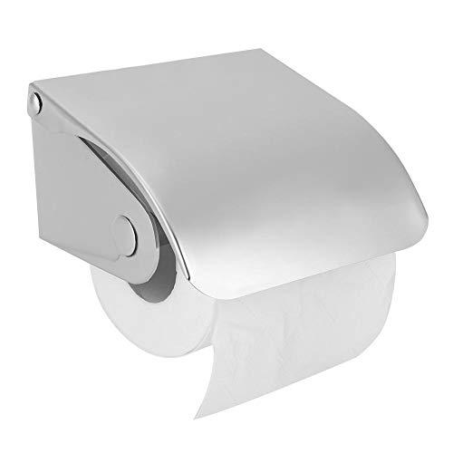 Cafopgrill Rollenpapierhalter, an der Wand montierter Toilettenpapierspender Wasserdichter Edelstahl-Toilettenpapierkasten für Hotelrestaurant-öffentliche Toilette