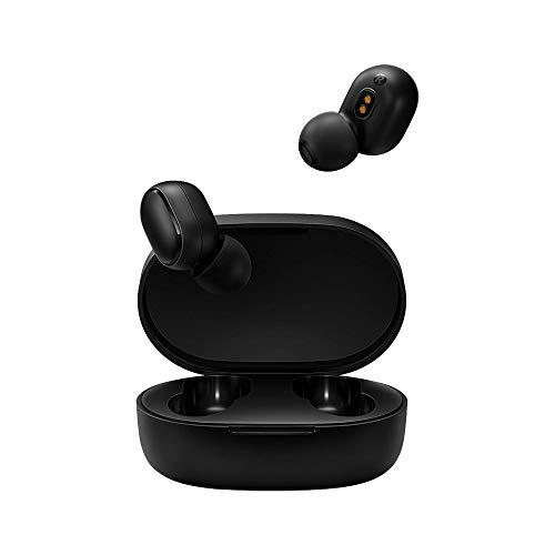 Xiaomi Mi True Wireless Earbuds Basic 2 iOS/Android Bluetooth In-Ear Kopfhöhrer (Freisprechfunktion, Musiksteuerung, Sprachassistent, 4 Std Wiedergabezeit, Aufbewahrungsbox mit Ladefunktion) Schwarz