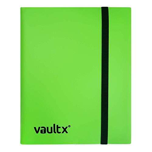 Vault X Sammelkarten-Album - 9 Fächer Sammelkarten Trading Cards Mappe - 360 Fächer mit Seitenöffnung für Spielkarten zum sammeln und tauschen (grün)