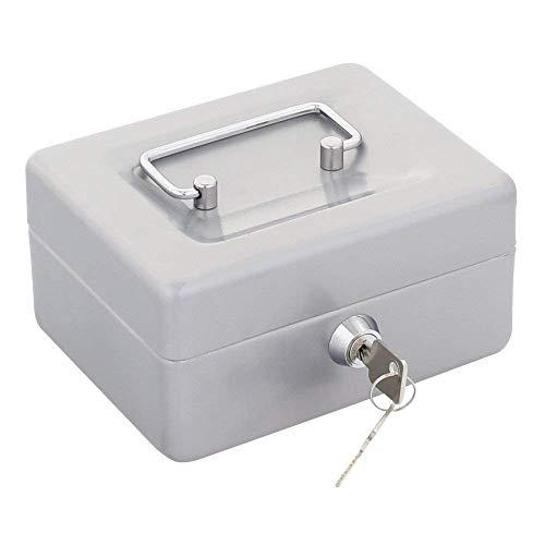 Rottner Geldkassette Traun 1  Silber, Klassisches Modell, Stahl, Geldzählkassette,Kassengeldeinsatz, Zylinderschloss