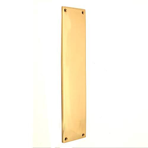 Estilo victoriano resistente puerta interna cuadrada y diseño en forma de empuje protector de la placa de la puerta en latón/cromo/satén (placa cuadrada de dedo cuadrado, latón pulido)