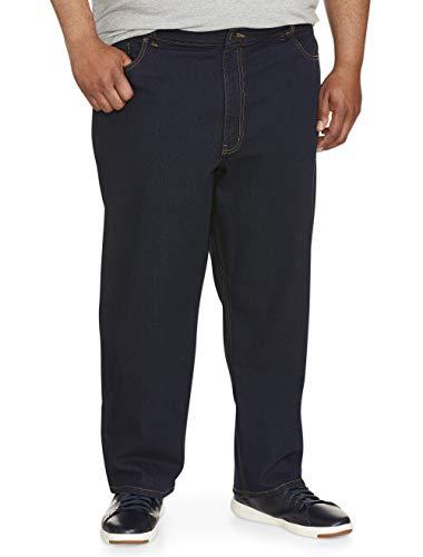 Amazon Essentials Men's Big & Tall Relaxed-Fit Stretch Jean, Rinse 46W x 28L