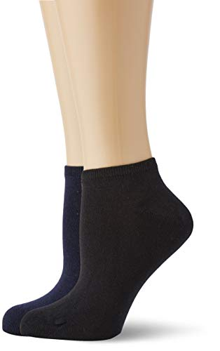 Living Crafts Sneaker-Socken, 2er-Pack 39/40, black/navy