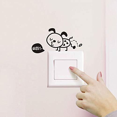 Pegatina de pared de hormigas pequeñas, interruptor de baño, baño, sala de estar, decoración del hogar, calcomanía impermeable, póster de Pvc, pegatinas de hormigas bonitas