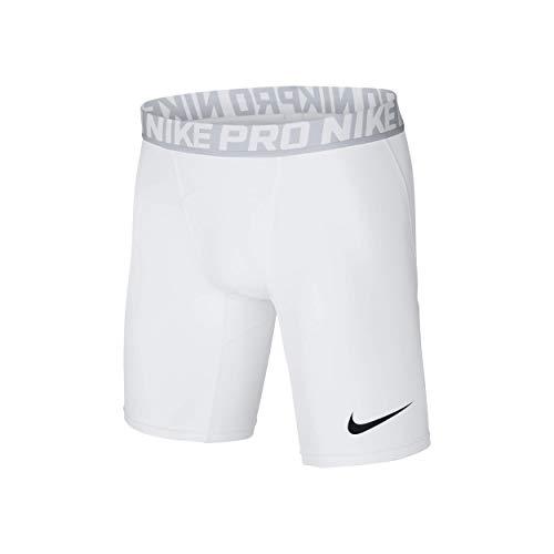 Nike Herren Pro Trainingsshorts, Weiß (White/Pure Platinum/Black), S