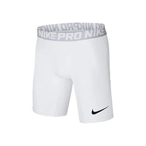 Nike Herren Pro Trainingsshorts, Weiß (White/Pure Platinum/Black), M