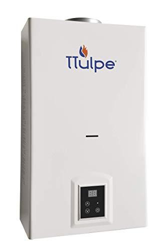 TTulpe TTIB10P375 Indoor B-10 P30/37/50-Calentador de Agua de propano, ecológico con Encendido de batería ErP/NOx, Blanco, 550 x 330 x 196 mm