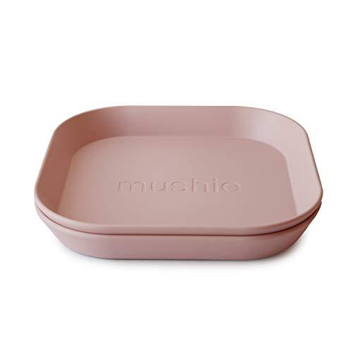 mushie Kinderteller | Kindergeschirr Teller Set 2er pack | BPA-frei geschirr Hergestellt in Dänemark (Blush)