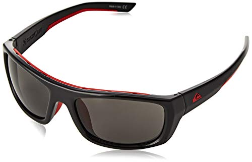 Quiksilver Knockout-Gafas De Sol para Hombre, Black/Red/Grey-Combo, 1Sz