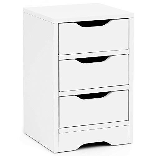 Wohnling WL5.704 nachtkastje, hout, wit, 30x30x48,5 cm