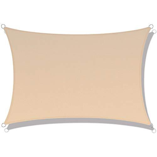 FWML Toldo Vela de Sombra,Impermeable Protección Rayos UV,para Patio/Exteriores/Jardín,Rectángulo/Cuadrado