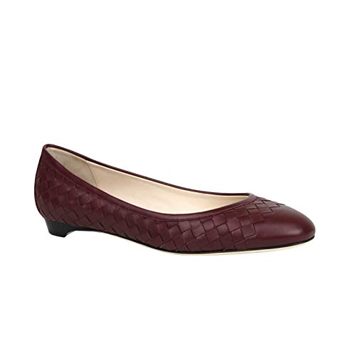 Bottega Veneta Women's Intrecciato Burgundy Leather Flat Slippers 428864 2240 (40 EU / 10 US)