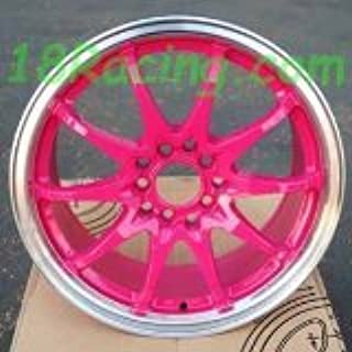 1 PC ONLY ROTA FIGHTER 10 DPT WHEELS 16X7 PCD:5X100 AND 5X114.3 OFFSET:40 HB:73 PINK WITH POLISH LIP