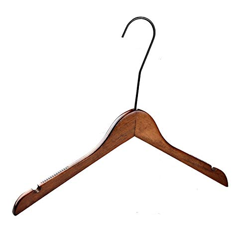 Gyubay Balcony Hanger Pack Of 10 Heavy Duty Wood Hangers Dresses Suit Coat Jacket Hangers with Height Hook Home Cabinet Supplies (Color : Retro, Size : 40 * 30.5 * 1.2cm)