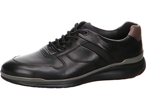 LLOYD Herren Low-Top Sneaker Matai, Männer Sneaker,Halbschuh,Schnürschuh,Strassenschuh,Business,Freizeit,SCHWARZ/Graphit,7.5 UK / 41 EU