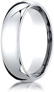 Mens Platinum, 6mm Slim Profile Comfort-Fit Ring