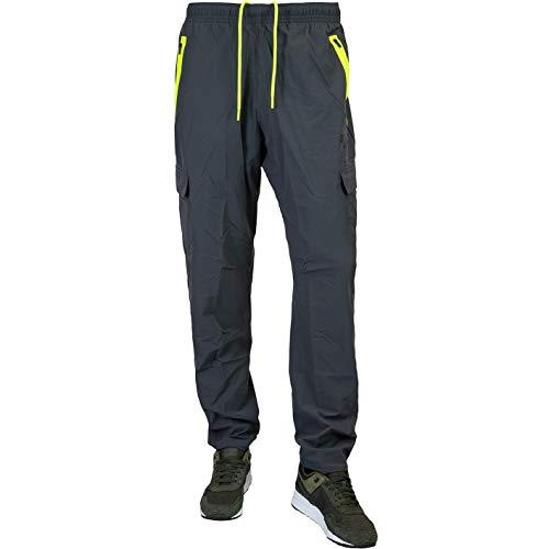 Nike Festival Woven Cargo Sweatpants Jogginghosen (M, Grey/Volt)