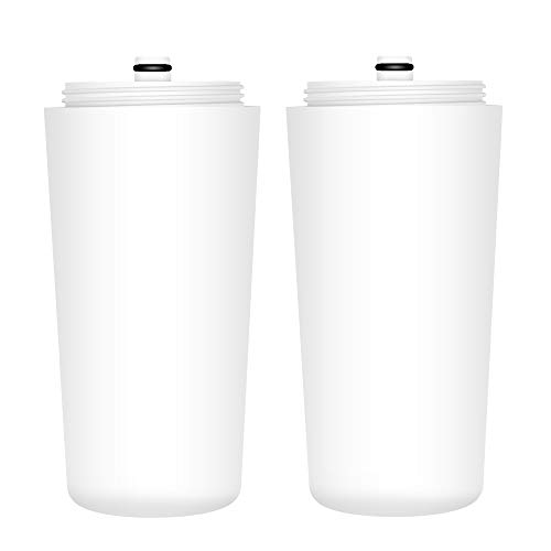 AQUACREST AQ 4125 Shower Water Filter, Compatible with Aquasana AQ 4125, AQ-4100, AQ-4100NSH, AQ-4105, Jonathan Product Beauty Shower Filter, with Advanced KDF Filtration Material, Pack of 2