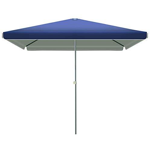 FGDSA 2.0 * 2.0M Rectangular Garden Umbrella Parasol, Offset Cantilever Sun Shade Waterproof with 4 Height Adjustable for Outdoor/Gardens/Balcony/Patio Canopy Tent,Green