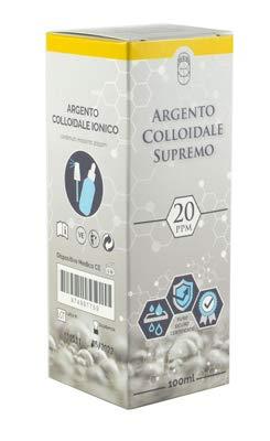 Argento Colloidale Ionico Supremo - 20ppm 100ml - Puro, Sicuro, Certificato - Erogatore spray e contagocce