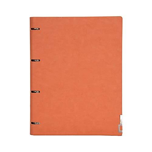 College-dagboek, spiraalbinding, leer, A5, retro notitieboek, blanco, gevoerd, voor reizen A4