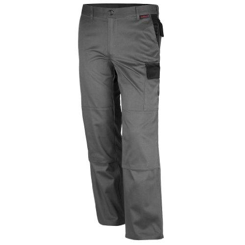 Qualitex Image-Bundhose Mischgewebe 65% Baumwolle 35% Polyester 3104/5-8 60,Grau-Schwarz