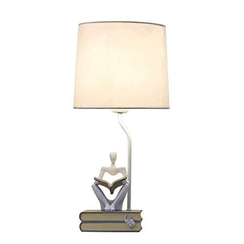 JYDQM Lámpara de Escritorio Moderna de diseño Simple con Pantalla de Tela cilíndrica y Base Negra, incluida, Perfecta for el hogar, el Dormitorio, la Sala de Estar, la Oficina, la Robusta