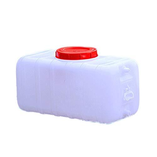 Dore Home Alimentaria De La Familia Al Aire Libre Grado De Plástico Cubo Rectangular Grande Horizontal Tanque De Almacenamiento De Lavado De Coches Cazo con 1 Válvula (Size : 100L)