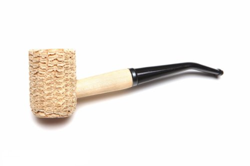 Missouri Meerschaum - Missouri Pride Corn Cob Tobacco Pipe - 5th Avenue, Bent Bit