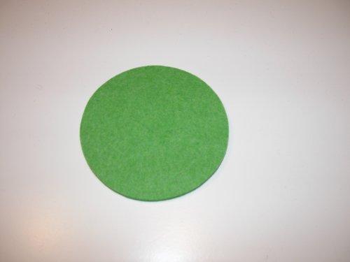 Filz Tischsets Untersetzer 33cm rund in allen Farben Daff gift grün mel. 47
