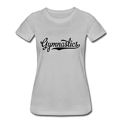 HOTHK Women's Short Sleeve Crew Neck Wordart Gymnastics Cotton T-Shirt