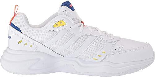 adidas Strutter, Zapatillas Deportivas. Hombre, FTWR White Shock Yellow-Reloj de Pulsera, Color Blanco y Amarillo, 46 EU