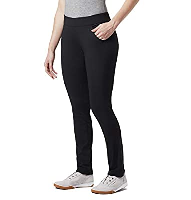Columbia Women's Anytime Casual Pull On Pant Stain Resistant, Sun Protection, Black, Medium x Regular