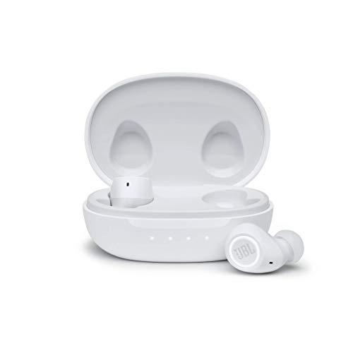JBL Free II Cuffie In-Ear Wireless, Auricolari Bluetooth Senza Fili con Microfono Integrato per Musica, Chiamate e Sport, Impermeabili IPX4, fino a 24h di Autonomia, Bianco