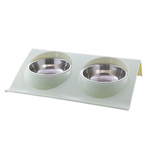 Welpen Fütterung Double Dog Cat Bowls Edelstahl Pet Food Wasser-Zufuhr for Hundewelpen Katzen Heimtierbedarf Futternäpfe Neue (Color : G226441A, Size : S)