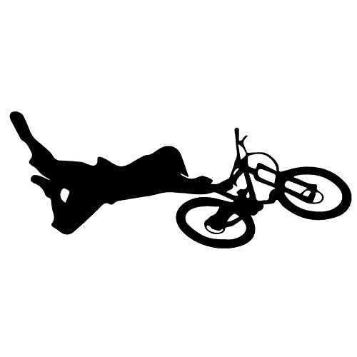 Bonitos pegatinas 18. 6CMX7.5CM Divertido paseo por cadena en una bicicleta viny calcomanía interesante sombra etiqueta engomada de coche decoración Sticker de carro (Color Name : Black)